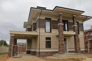 Варианты отделок фасадов каркасных домов